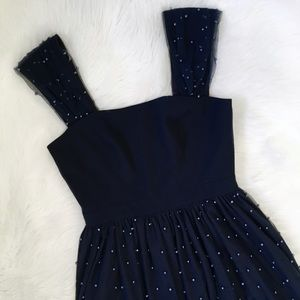 Gal Meets Glam Blue Pearl Formal Cocktail Dress